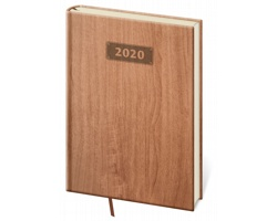 Denní diář Wood 2020, A5 - světle hnědá