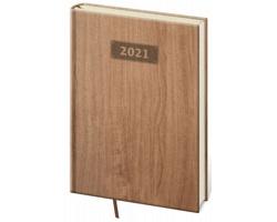 Týdenní diář Wood 2021, A5 - světle hnědá