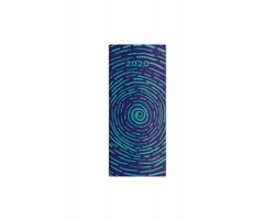 Kapesní měsíční diář Napoli 2020, 8x18cm - design 1