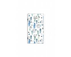 Kapesní čtrnáctidenní diář Napoli 2021, 8x15 cm - design 5