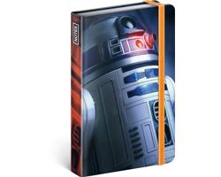 Poznámkový linkovaný notes Star Wars - Blue, 11x16cm