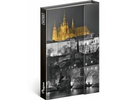 Poznámkový notes čistý Praha 2018, 10,5x15,8