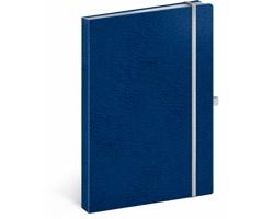 Poznámkový linkovaný notes Vivella Classic, A5 - modrá / bílá