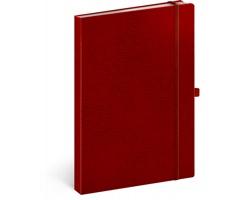 Poznámkový linkovaný notes Vivella Classic, 15x21cm - červená / červená