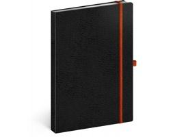 Poznámkový linkovaný notes Vivella Classic, A5 - černá / oranžová