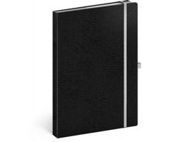 Poznámkový linkovaný notes Vivella Classic, A5 - černá / bílá