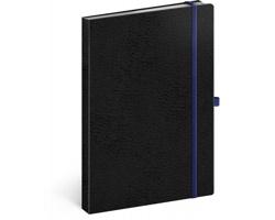 Poznámkový linkovaný notes Vivella Classic, 15x21cm - černá / modrá