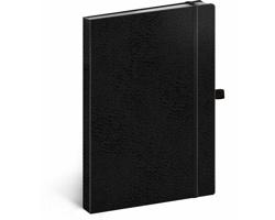 Poznámkový tečkovaný notes Vivella Classic - černá / černá