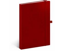 Poznámkový tečkovaný notes Vivella Classic - červená / červená