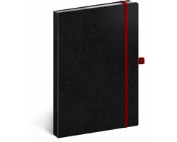 Poznámkový tečkovaný notes Vivella Classic - černá / červená