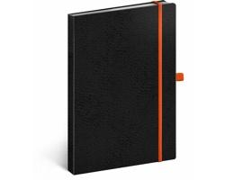 Poznámkový tečkovaný notes Vivella Classic - černá / oranžová