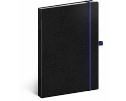 Poznámkový tečkovaný notes Vivella Classic - černá / modrá