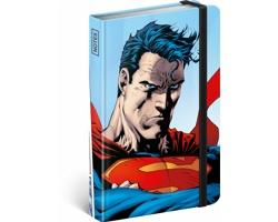 Poznámkový linkovaný notes Superman - World Hero, 11x16 cm