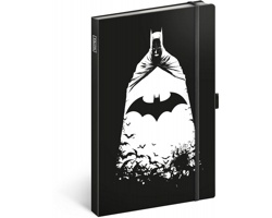 Poznámkový linkovaný notes Batman, 13x21 cm