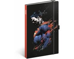 Poznámkový linkovaný notes Superman, 13x21 cm