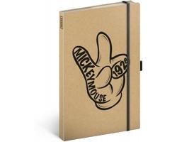 Poznámkový linkovaný notes Mickey Craft, 13x21cm