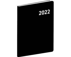 Kapesní měsíční diář Černý 2022 plánovací, 7x10 cm