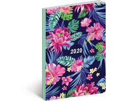 Kapesní týdenní diář Květiny 2020 ultralehký, 11x17cm