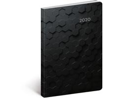 Kapesní týdenní diář Hexagon 2020 ultralehký, 11x17cm