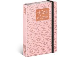Týdenní diář Geometric - Think of me 2020 - východoevropské, 11x16cm