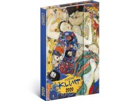 Týdenní diář  Gustav Klimt 2020 - západoevropské magnetický, 11x16cm