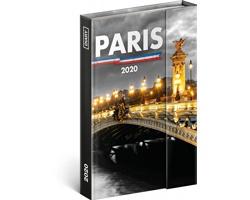 Týdenní diář  Paříž 2020 - východoevropské magnetický, 11x16cm