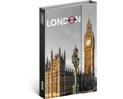 Týdenní diář  Londýn 2020 - východoevropské magnetický, 11x16cm