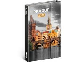 Týdenní diář  Praha 2020 - východoevropské magnetický, 11x16cm