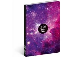 Měsíční diář Petito - Galaxy 2021, 11x17 cm