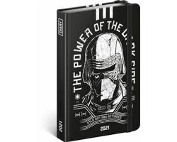 Týdenní diář Star Wars - Kylo Ren 2021, 11x16 cm