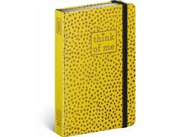 Týdenní diář Puntíky - Think of me 2021 - západoevropský, 11x16 cm