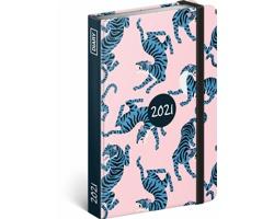 Týdenní diář Blue Tiger 2021 - východoevropský, 11x16 cm