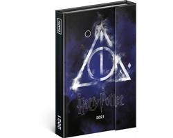 Týdenní diář Harry Potter - Deathly Hallows 2021 magnetický, 11x16 cm
