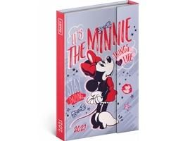 Týdenní diář Minnie 2021 magnetický, 11x16 cm
