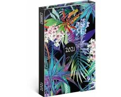 Týdenní diář Džungle 2021 - východoevropský magnetický, 11x16 cm