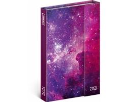 Týdenní diář Galaxie 2021 - východoevropský magnetický, 11x16 cm