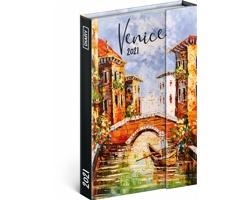Týdenní diář Benátky 2021 - východoevropský magnetický, 11x16 cm