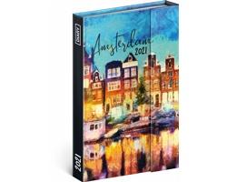 Týdenní diář Amsterdam 2021 - východoevropský magnetický, 11x16 cm