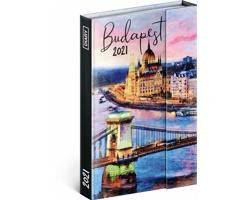 Týdenní diář Budapešť 2021 - východoevropský magnetický, 11x16 cm