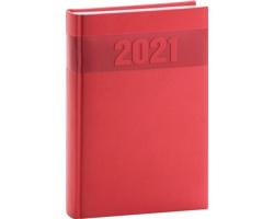 Denní diář Aprint 2021, A5 - červená
