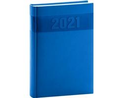 Denní diář Aprint 2021, A5 - modrá