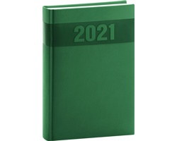 Denní diář Aprint 2021, A5 - zelená