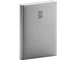 Denní diář Capys 2020, A5 - stříbrná