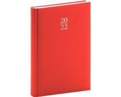 Denní diář Capys 2022, A5 - červená