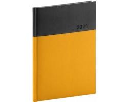 Denní diář Dado 2021, A5 - žlutá / černá