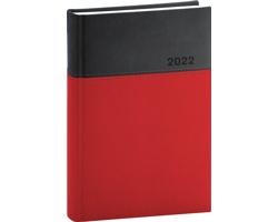 Denní diář Dado 2022, A5 - červená / černá