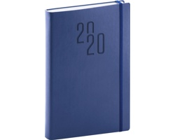 Denní diář Soft 2020, A5 - modrá