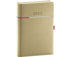 Denní diář Tomy 2022, A5 - béžová / růžová