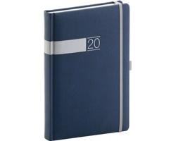 Denní diář Twill 2020, A5 - modrá / stříbrná