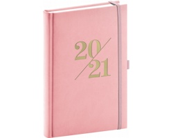 Denní diář Vivella Fun 2021, A5 - růžová